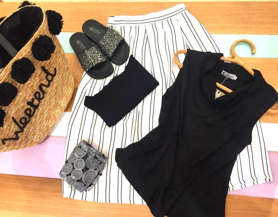 linea abbigliamento primavera estate 2019 bianco nero Pescara