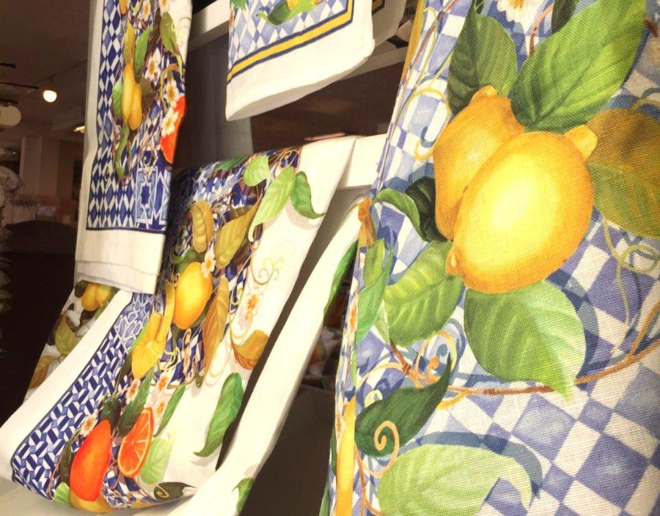 Tovaglie, runner e strofinacci cucina limoni cementine a Pescara
